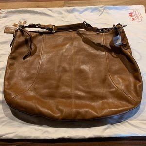 Large Coach Saddle Bag (12685), Lt Brown Leather